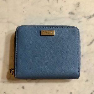 Blue Kate Spade Small Wallet